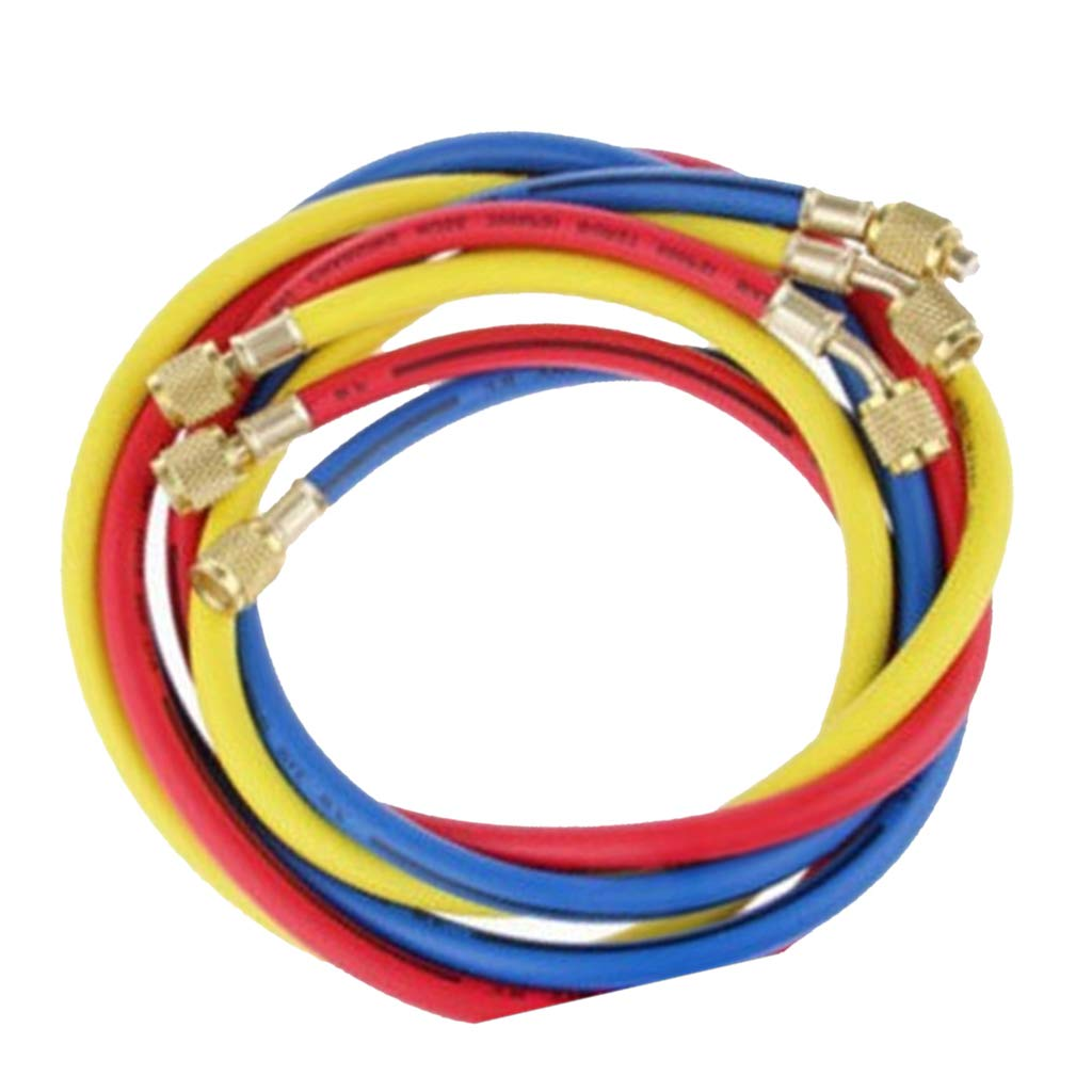 FLAMEER 600 PSI 1//4 inch SAE AC Charging Hose For HVAC Air Condition Refrigerant R134A