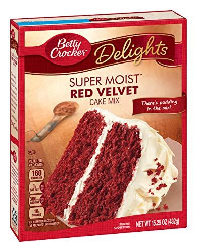 Betty Crocker Super Moist Cake Mix Red Velvet 15.25 oz Box