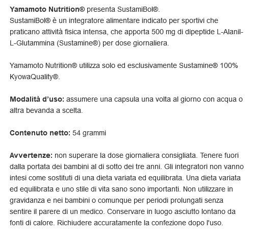Yamamoto Nutrition Sustamibol Suplemento Dietético - 80 Cápsulas: Amazon.es: Salud y cuidado personal