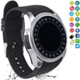 FashionLive Smart Watch Women Men Bluetooth Smartwatch Touch Screen Unlocked Phone Camera Pedometer Text Call Sports Fitness Activity Tracker