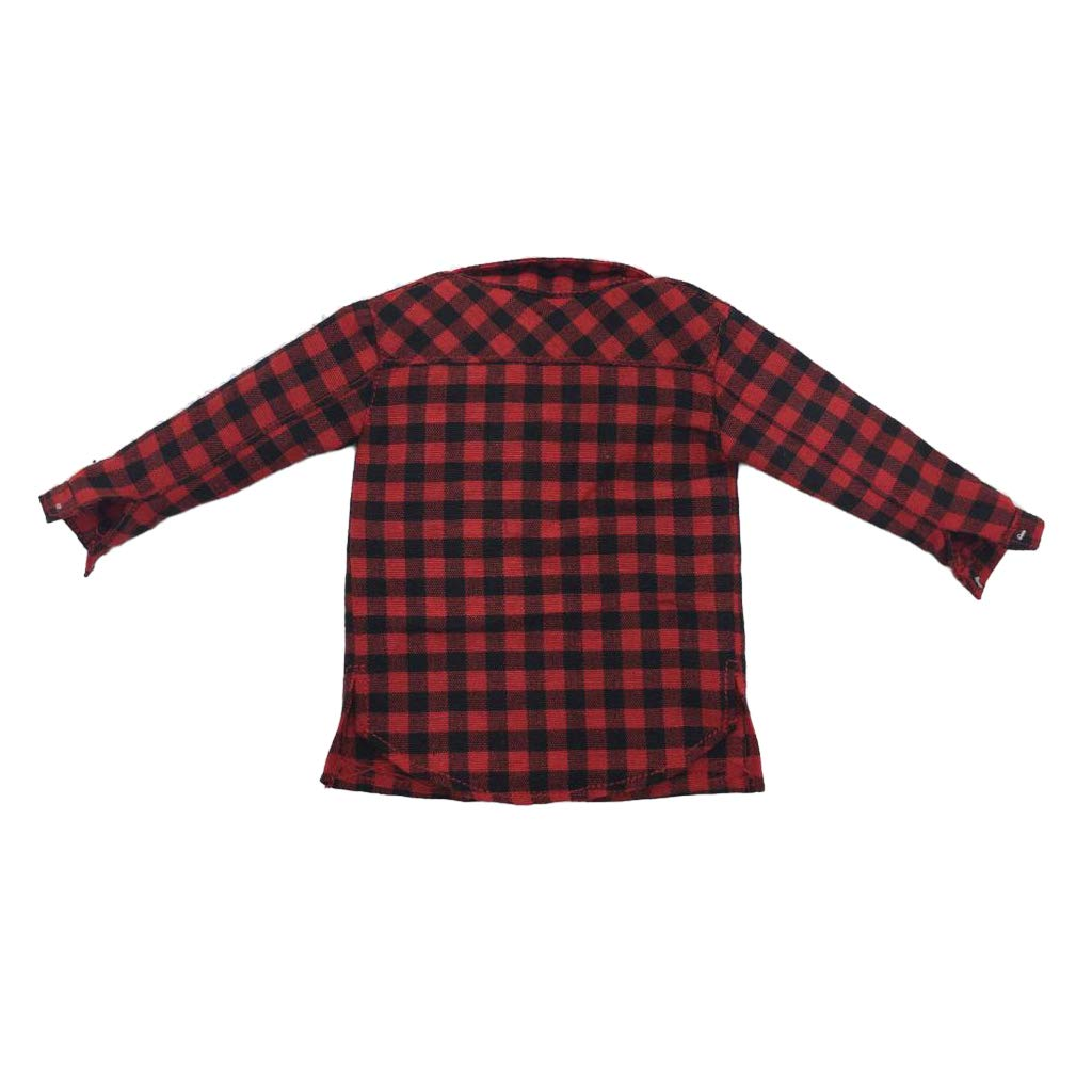 D DOLITY 1//6 Scale Red Male Plaid Shirt Jacket Men Clothing for 12inch Action Figures Doll