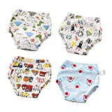 Baby Cotton Training Pants 4 Pack Padded Toddler Potty Training Underwear Girls Boys 12M,2T,3T,4T