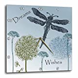 3dRose dpp_79324_2 Dreams and Wishes Dandelions and Dragonflies-Wall Clock, 13 by 13-Inch Review