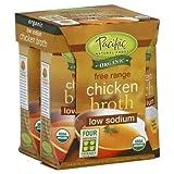 Pacific Foods Broth Chkn 4pk Ls Org