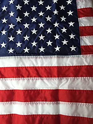 Flags Poles And More 8x12 Best Commercial Grade Nylon American Flag 8'x12' US Flag Made in The USA Embroidered Stars Sewn Stripes