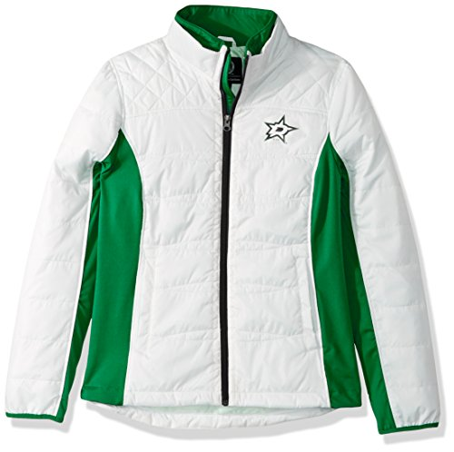 GIII For Her NHL Dallas Stars Women's Grand Slam Full Zip Jacket, Small, White