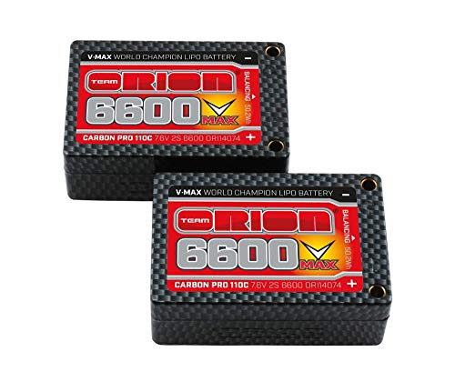 Team Orion Carbon V-Max 7.6V 6600 2S 110C SaddleTubes Battery