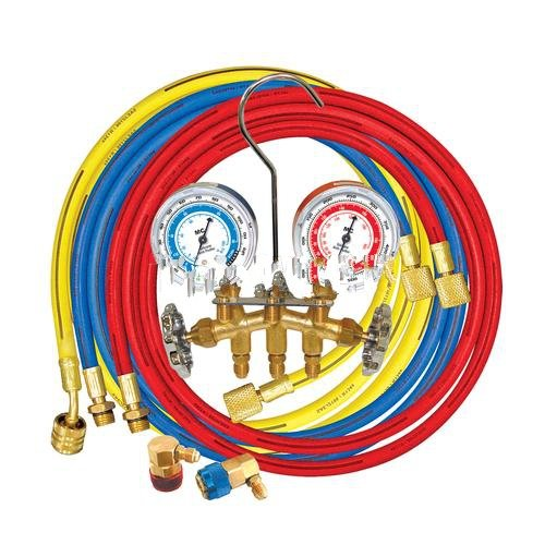 Brass Manifold for R134A with 60inch Hoses-2pack by MASTERCOOL