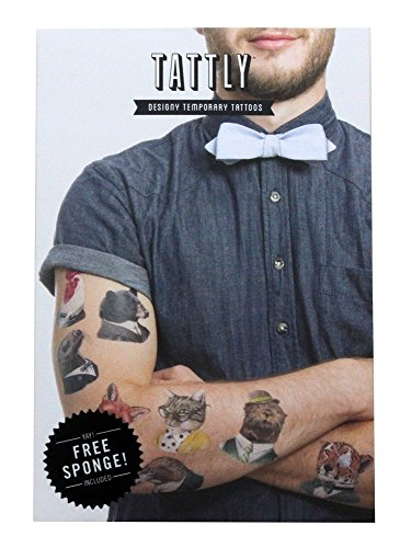 Tattly Temporary Tattoos Animal Society Set, 1 Ounce -