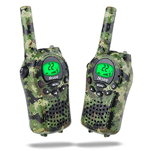 Walkie Talkies for Kids, iksee kids Walkie Talkies Long Range 6Km, 22 Channel Two Way Radios Toys for 5 Years Old Boys and Girls Outdoor Games (1 Pair)