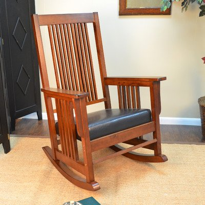 Traditional Rocking Chair, Matilda - Chestnut by Darby Home Co