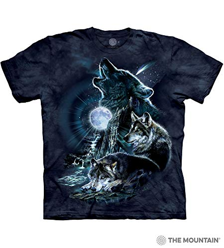 (The Mountain Bark At The Moon Adult T-Shirt, Blue, Small)