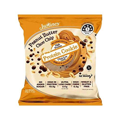 Justine's Cookies Protein-Plätzchen 12x64g Erdnussbutter
