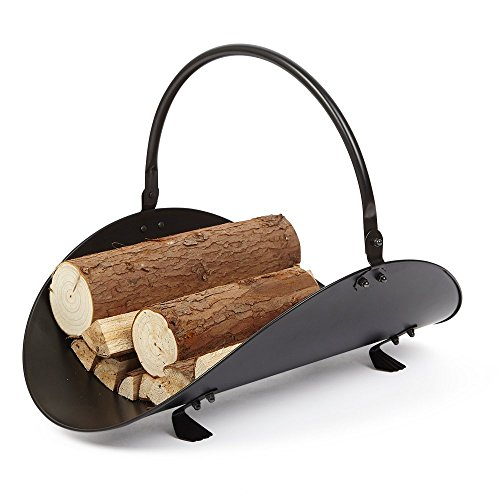 Rocky Mountain Goods Firewood Basket Holder Indoor - Decorative finish metal log holder - Fireplace wood rack is ideal size for indoor use - Assembly wrench included - For modern or classic home (Fireplace Wood Basket)