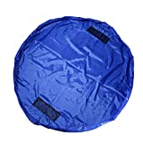 Toy Organizer and Children's Floor Activity Mat and Toys Storage Bag 60inch Multi Purpose Play Bag Fast Collection Toys Quick Pouch for Storing Small and Medium Size Toys Picnic Shoulder Bag (blue)