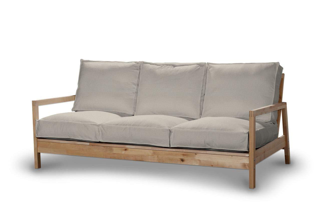 Dekoria Lillberg 3-Sitzer Sofabezug Husse passend für IKEA Modell Lillberg Biege-grau