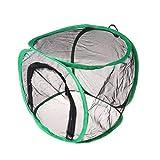 Shoresu Folding Cage Net Anti Insect Portable Catcher Trap Breeding Plant Mantis Mantle Black S: 30x30x30cm(11.81x11.81x11.81in)