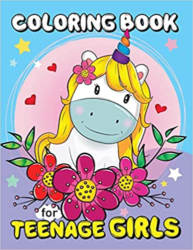Coloring Book for Teenage girls: Animals and Flowers Adults ...