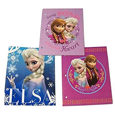 Disney Frozen 3 Folder Set ~ Strong Bond, Powerful Beautiful Elsa, Family Forever: Toys & Games