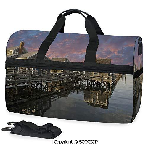 Sports Gym Duffel Bag Sunset over Nantucket Massachusetts Handbag for men