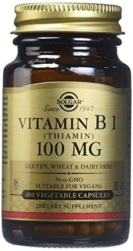 Solgar – Vitamin B1 (Thiamin) 100 mg, 100 Vegetable Capsules