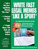 img - for Write Fast Legal Memos Like a Sport(tm) book / textbook / text book