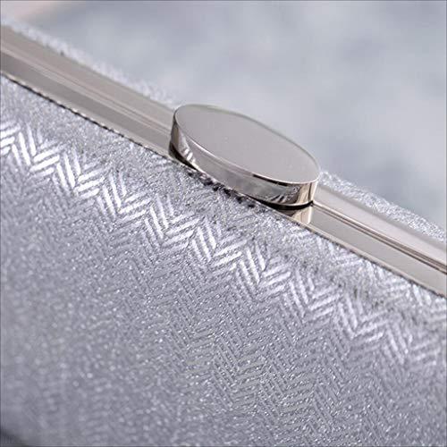 Silver En Mymao black Dur De Et Coquille Soirée Main Petit À Dames Carré Américain Sac Cuir Pochette Européen TTrq8aw