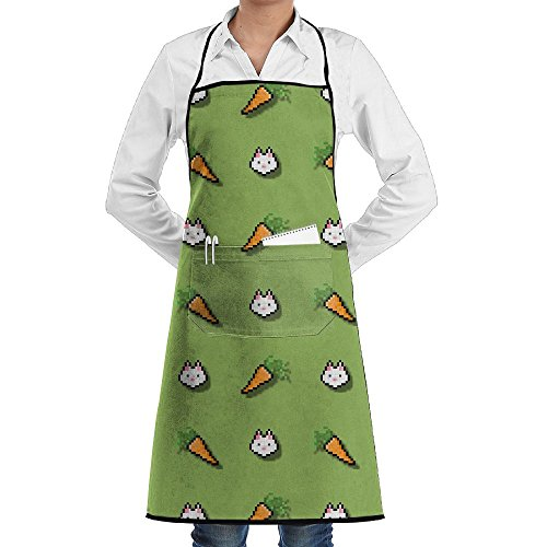 NRIEG Mosaic Carrots And Rabbits Faction Unisex Kitchen Cooking Garden Apron,Convenient Adjustable Sewing Pocket Waterproof Chef (Mosaic Garden Thermometer)