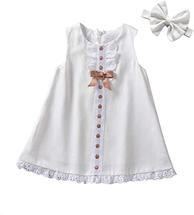 Girls Dress for 1-5 Years Weant Newborn Baby Infant Toddlers Girls Lovely Sleeveless Priness Dress Tutu Skirt Dress for Kids Clothes Gifts Wedding Pageant Dress Outfits