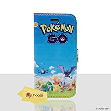 """iPhone 6/6s (4.7"""") Pokemon PU Leather Flip Wallet Phone Case / Cover with Magnetic Strap for Apple iPhone 6S 6 (4.7"""") / Screen Protector & Cloth / iCHOOSE / Go Group"""