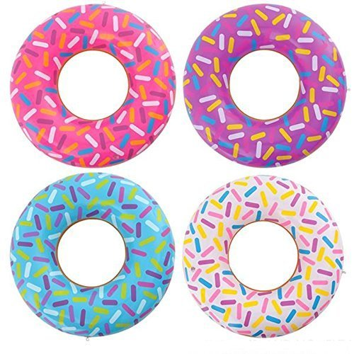 Rhode Island Novelty, Inflatable Donuts (12 Pack) by Rhode Island Novelty