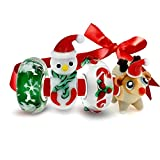 Bling Jewelry 925 Sterling Silver Glass Christmas Bead 4 Charm Set Pandora Compatible