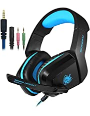Gaming Headset with Mic for PS4, PC, Xbox One, SENHAI Surround Sound Noise Cancelling Over Ear Headphones Compatible for Laptop Tablet Phone Games