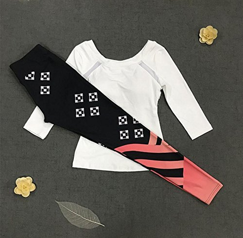 D DACHUI Sports Clothing Women's Yoga Fitness Fitness & Yoga Set Sports Clothes top Print Trousers