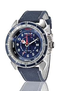 Sector R3251103035 - Reloj analógico de cuarzo para hombre con correa de piel, color azul