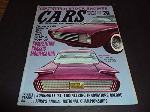 Cars Magazine Jan 1962 Bonneville '61, Super-Stock