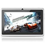 Yuntab 7 inch Google Android Tablet PC Wifi 8GB Q88 Quad Core 1024x600 Resolution Dual Camera Google Play Pre-loaded 3D Game, White
