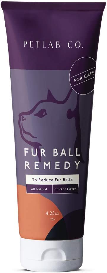 Petlab Co. Fur Ball Remedy | Cat Hairball Health Chicken Flavor Paste, Promotes Healthy Skin, and Coat | Soybean Oil, Vitamin E, Cod Liver Oil, and Rosemary Extract