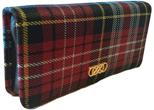 Smell-Proof-Womens-Plaid-Wallet-for-Dabbing-Concentrates-with-Grinder-Card
