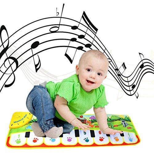 (Ikevan_Book Music Carpet Mat, New Touch Play Keyboard Musical Music Singing Gym Carpet Mat Best Kids Baby Gift)