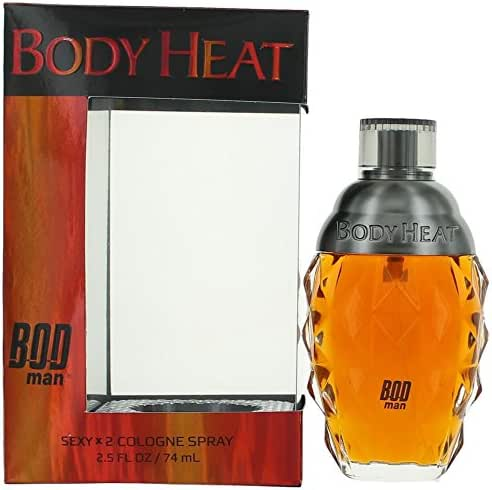 Parfums de Coeur Body Heat for Men Cologne Spray 2.5 Ounce