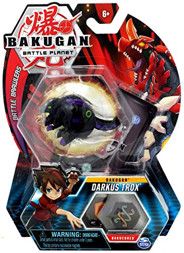 Bakugan, Darkus Trox, 2-inch Tall Collectible Transforming Creature, for Ages 6 and Up (Bakugan Darkus)