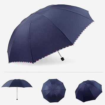 Big seller Paraguas Paraguas Plegable Tres Veces Paraguas Doble Refuerzo Grande Uso Dual Soleado Lluvia Hombres