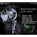 51NjWpNMF7L. SS150  - Forsining 3D Hollow Engraving Full Black Clock Luminous Design Black Stainless Steel Men's Mechanical Watches Top Brand Luxury