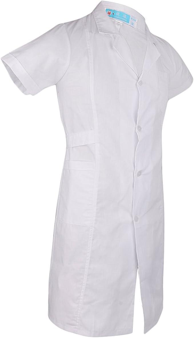 Laborkittel medizinische weiße klassische Krankenschwester Doktor Kleid Jacke