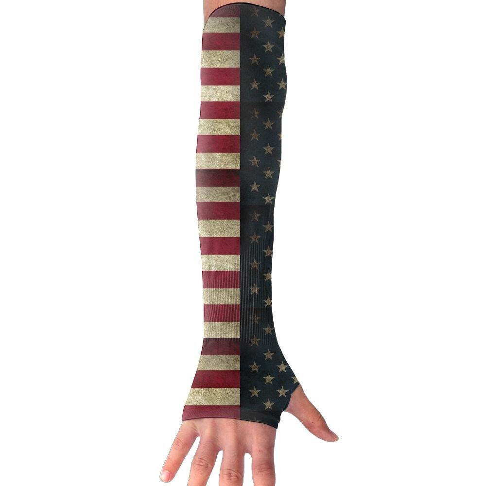 Unisex Ab Style American Flag Retro Sense Ice Outdoor Athletic Arm Warmer Long Sleeves Glove