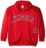 Profile Big & Tall Men's Los Angeles Angels of Anaheim Angels Majestic Red Big & Tall Destriny Performance Full Zip Hoodie Sweatshirt 4XL Tall