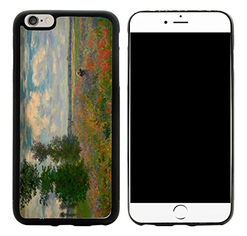 Price comparison product image Rikki Knight Hybrid Case Cover for iPhone 6 Plus & 6s Plus - Claude Monet Art Poppy Field Argenteuil Design