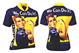 womens beer cycling jersey - Retro Rosie the Riveter Women's Cycling Jersey (Large)