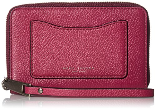 Marc Jacobs Recruit Zip Phone Wristlet, Wild Berry by Marc Jacobs